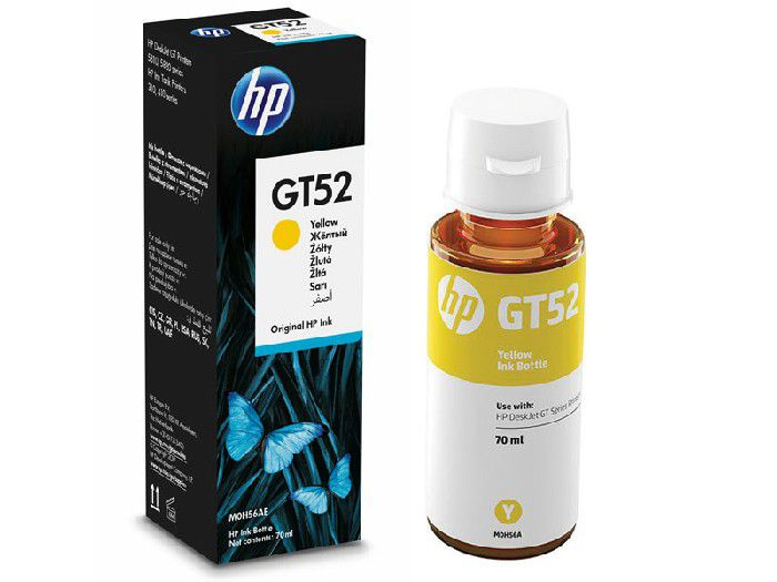 Refil HP Inc GT52 Amarelo 70ml M0H56AL