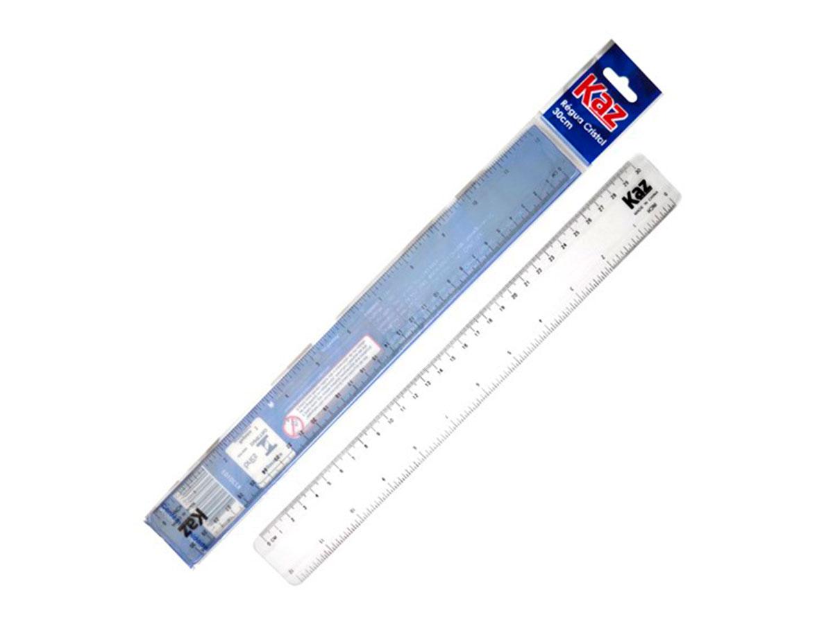 Régua 30 cm Cristal Contém 24 Unidades Kaz - 700839