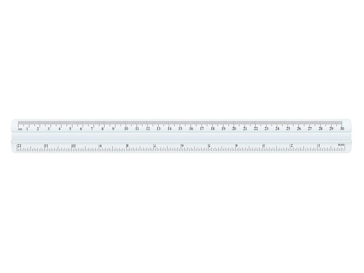 Régua de Alumínio 30cm, Pacote c/ 12 Unidades - Cis - 44500