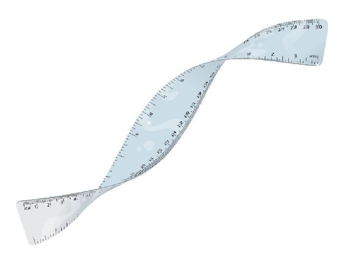 Régua Flexível, 30 cm, Caixa Com 12 Unidades, Cis - 327500