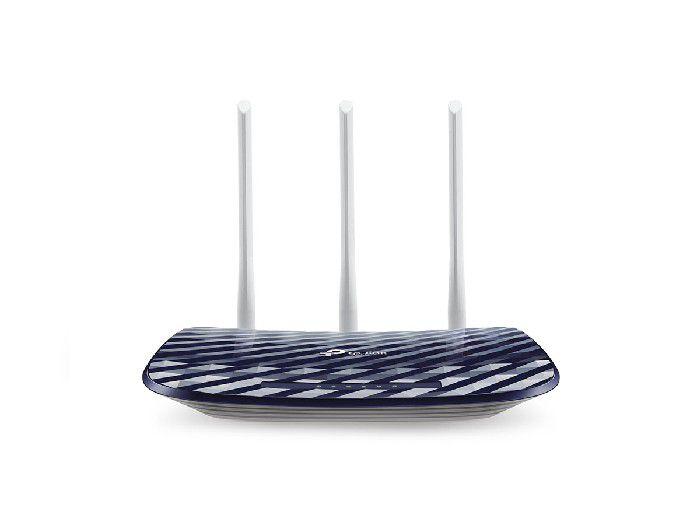 Roteador Wireless TP-Link Archer C20W AC750 300/433Mbps Dual Band, 3 Antenas, C/ Função PRESET