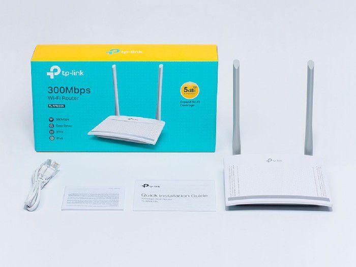 Roteador Wireless 300mbps Tp-link TL-WR820N C/2 antenas ext.fixa 5dbi Ipv6