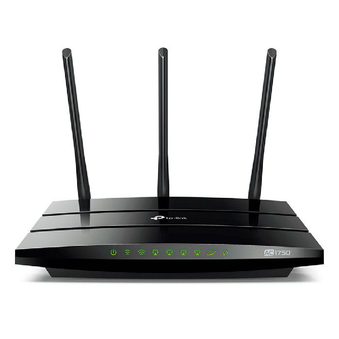 Roteador Wireless Dual Band Tp-link Archer C7 Ac1750 Gigabit C/3-antenas Movel