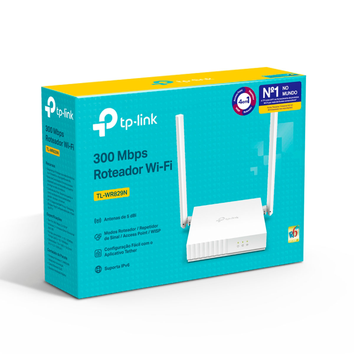 Roteador Wireless TP-Link TL-WR829N, Multimodo, 300 Mbps, 2 Antenas, 5dBi, IPv6