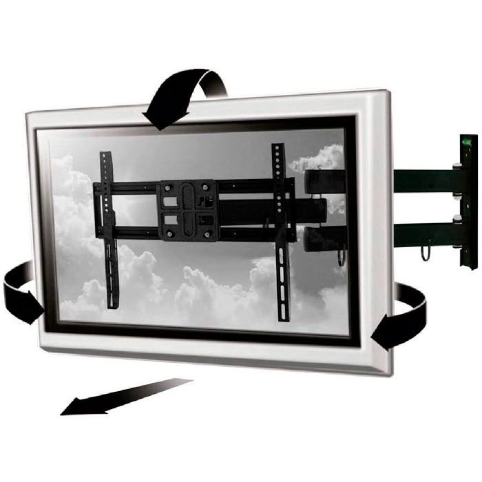 """Suporte Articulado Multilaser para TV de 32"""" até 50"""" Pol. Inclinação e Rotação - AC261"""