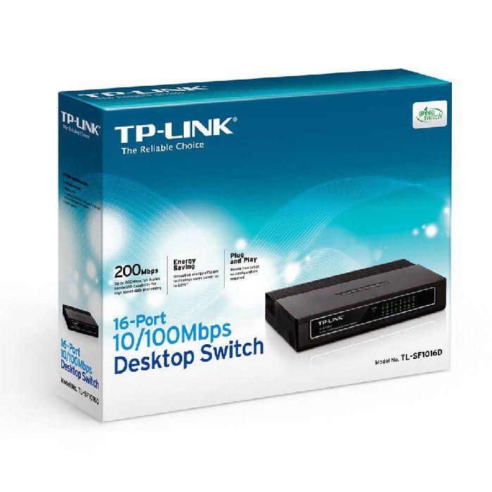 Switch 16 portas 10/100 TP-Link TL-SF1016D