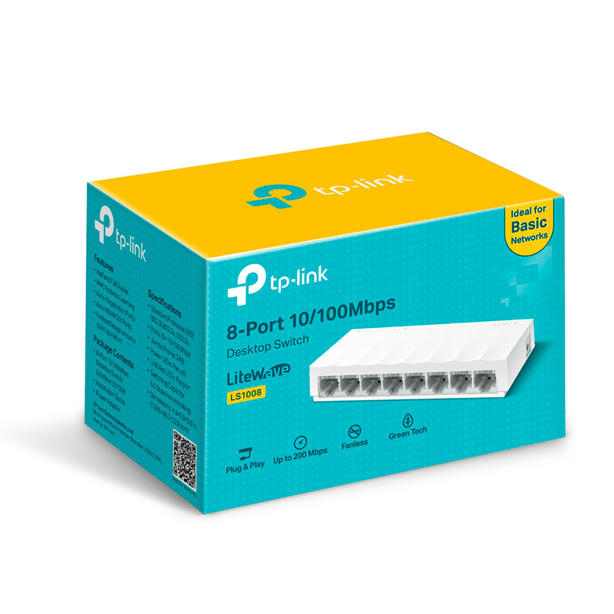Switch 8 Portas 10/100 TP-Link LS1008 1.0