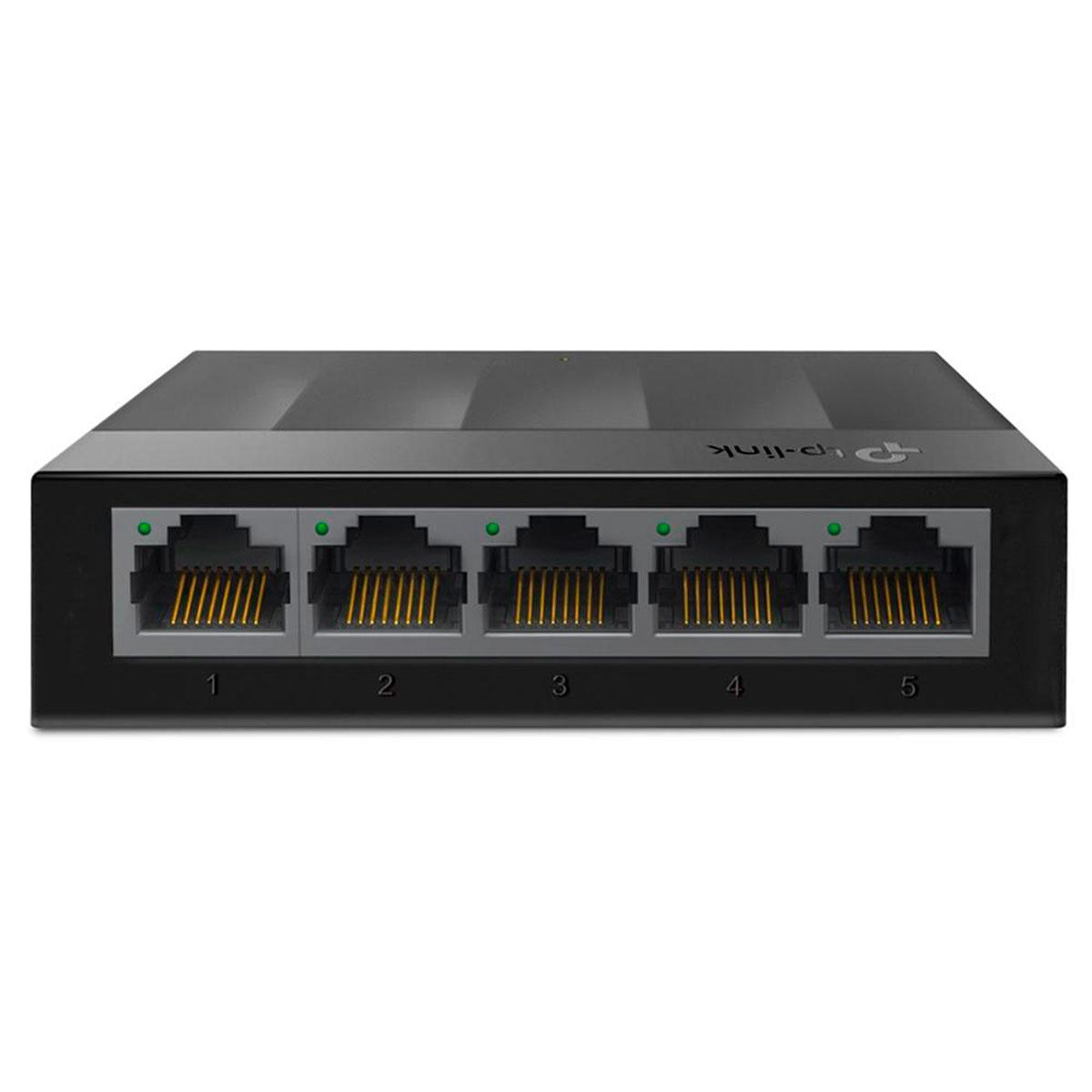 Switch Gigabit TP-Link Litewave LS1005G, 5 Portas 10/100/1000, de Mesa - Preto