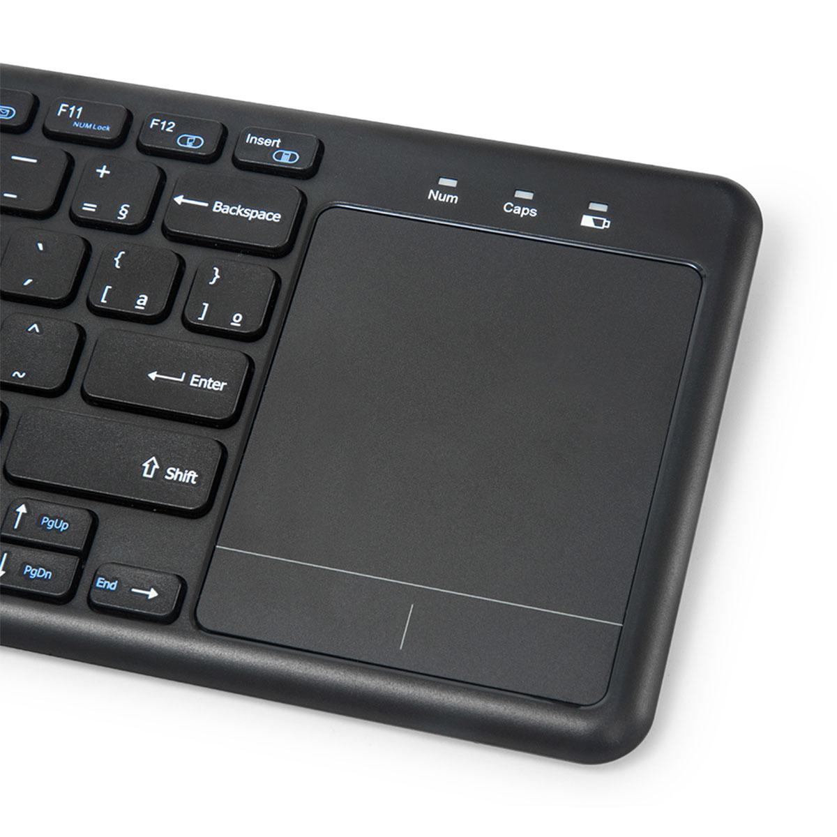 Teclado C3Tech K-WT100BK, Wireless com Touch Pad Integrado, ABNT2