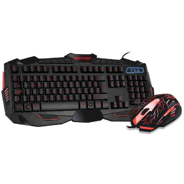 Teclado e Mouse Gamer Lightning TC195 Multilaser