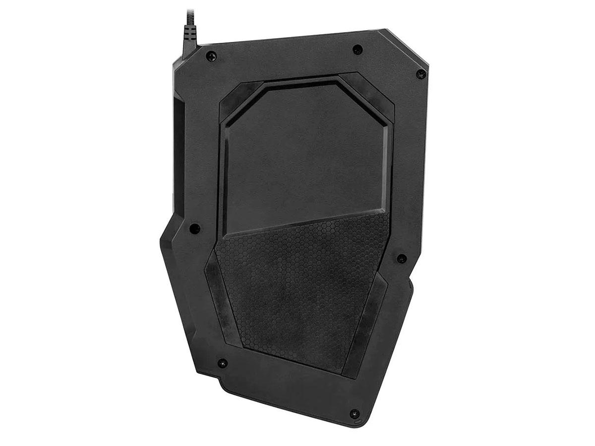 Teclado Gamer Multilaser One Hand Drugi Semi Mecânico Com Luz de LED Warrior - TC238