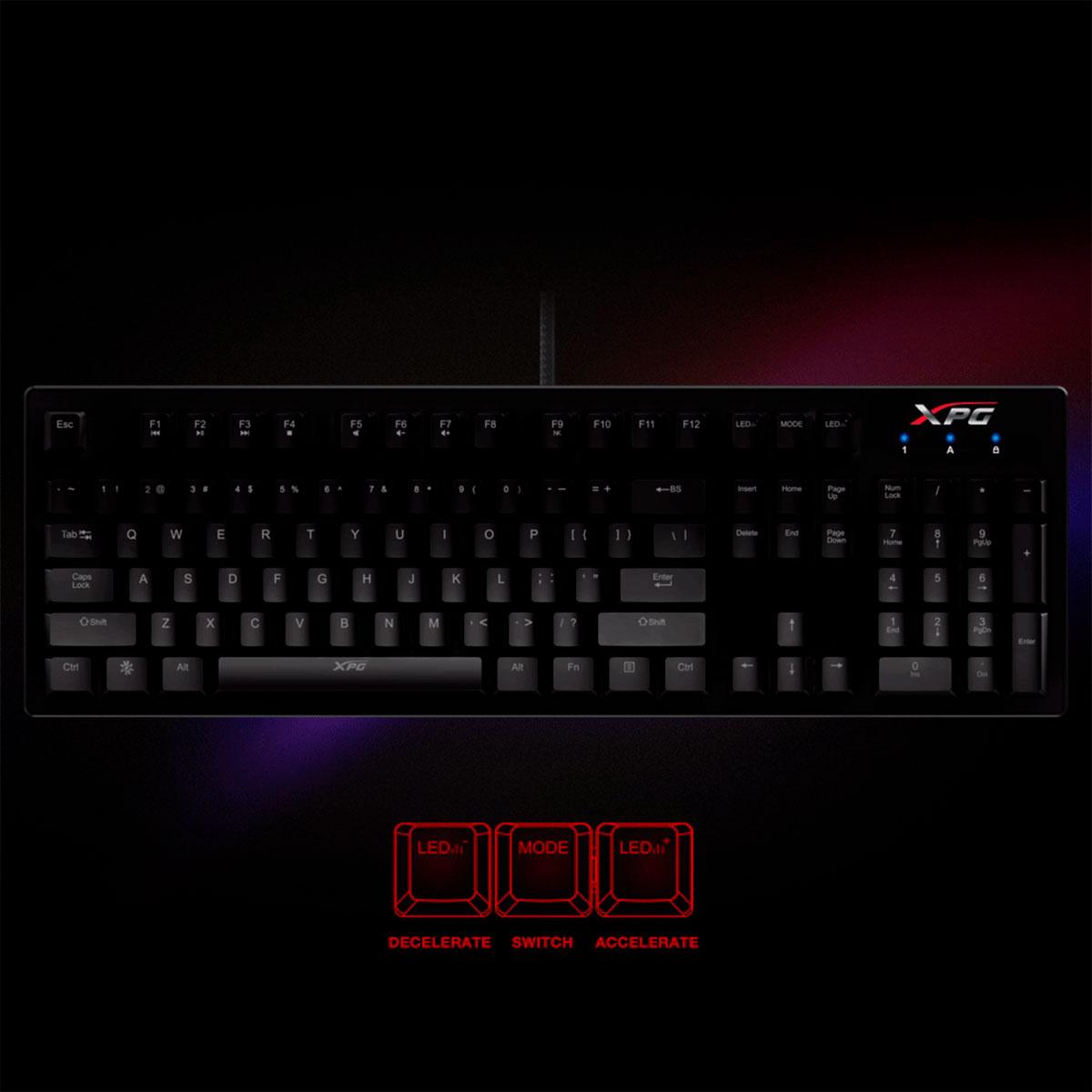 Teclado Mecânico Gamer XPG INFAREX K20 RGB, Anti-Ghosting, Switch Kaihl Blue - US