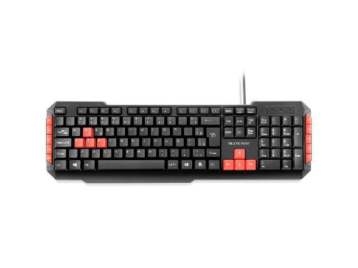 Teclado Multilaser Gamer Multimidia Red Keys USB TC160