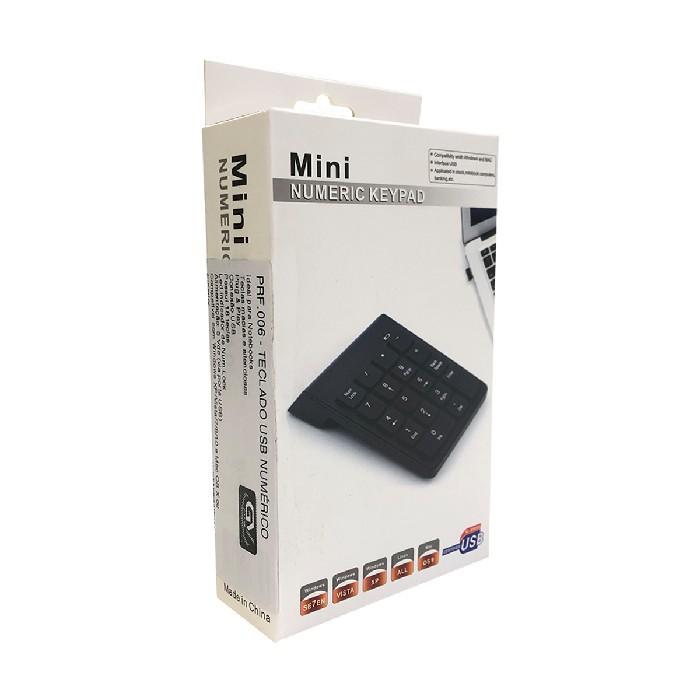 Teclado Numérico GV Brasil PRF.006, USB, Preto