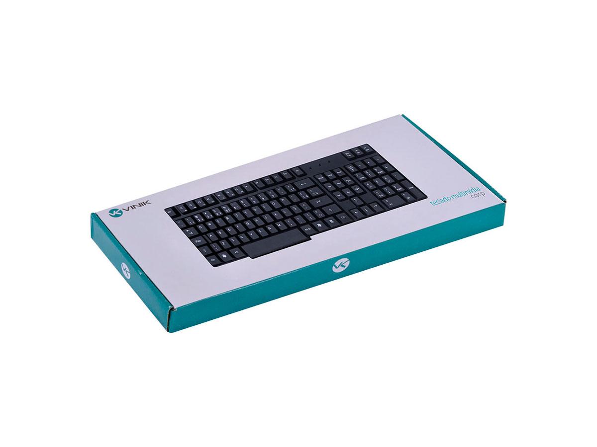 Teclado Vinik Multimídia USB Corp 110 Teclas CT100 28410