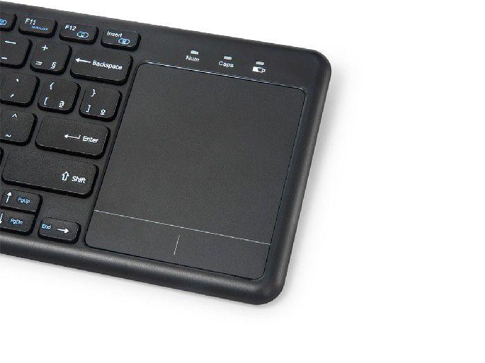 Teclado Wireless Com Mouse Touch C3tech K-WT100BK