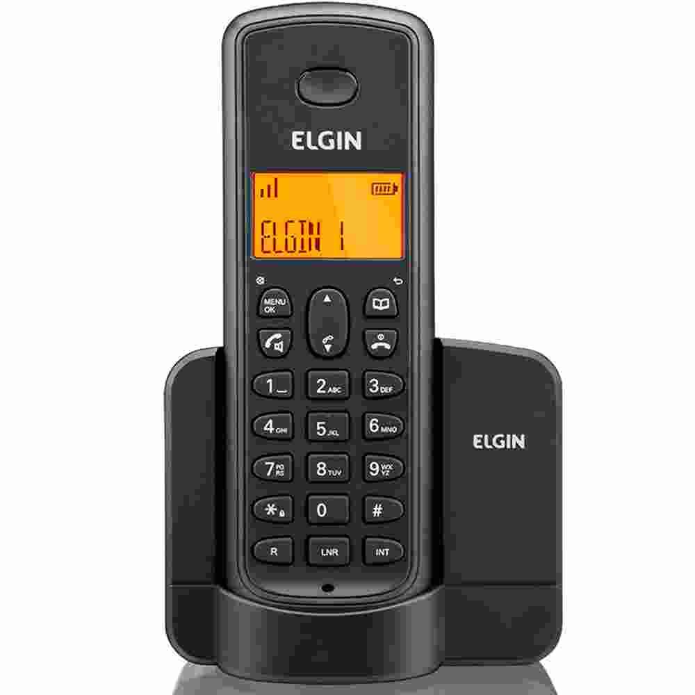 Telefone Sem Fio, Viva-voz e Identificador de Chamadas, Elgin - Preto - 42TSF8001000