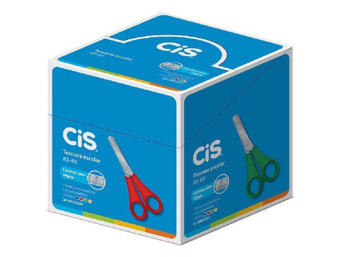 Tesoura Escolar KS-95, Caixa Com 20 Unidades, Cis - Cores Sortidas - 2408301