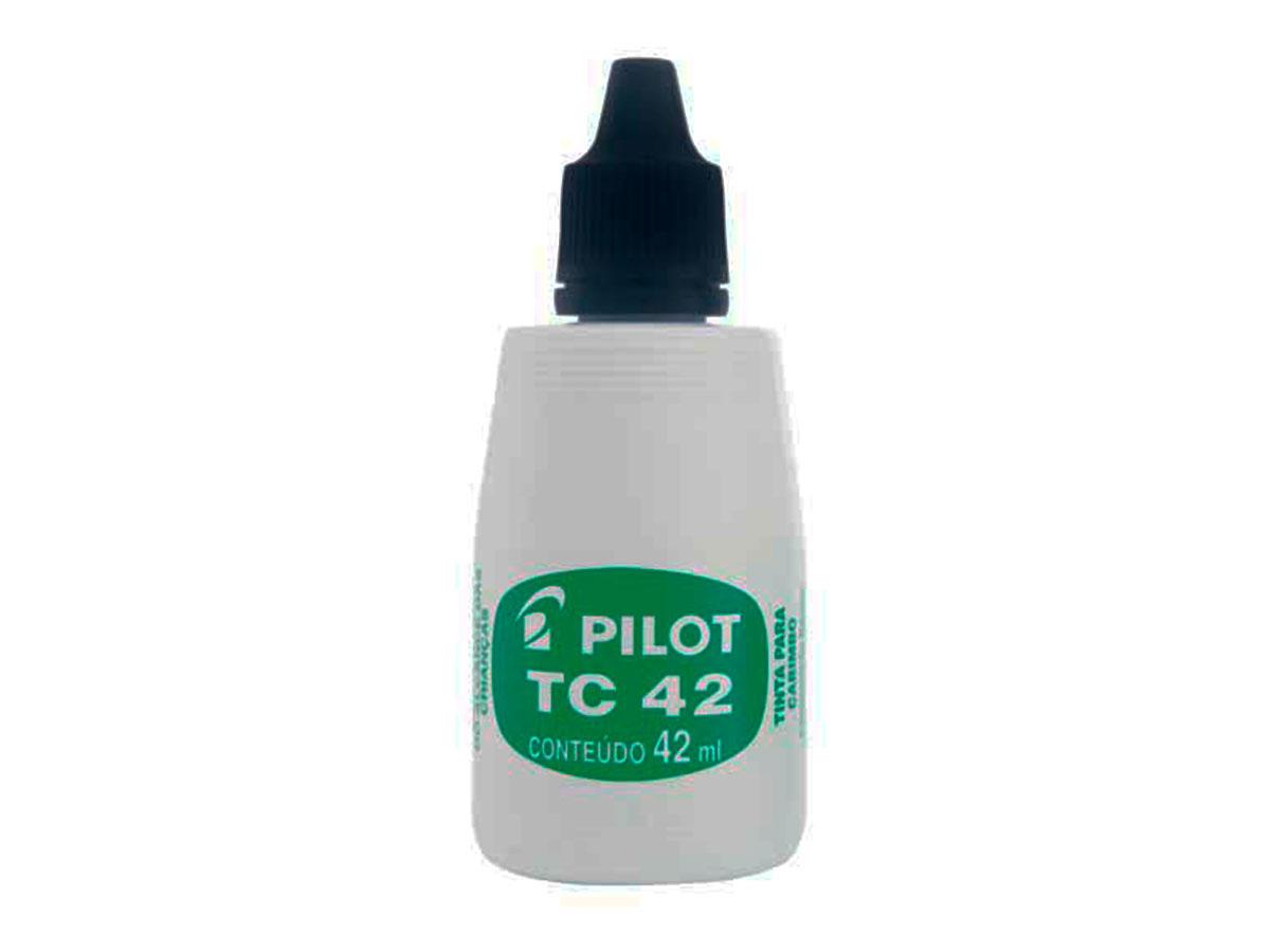 Tinta Para Carimbo Preto 42 ML Caixa Com 12 Unidades Pilot - 1060005PR