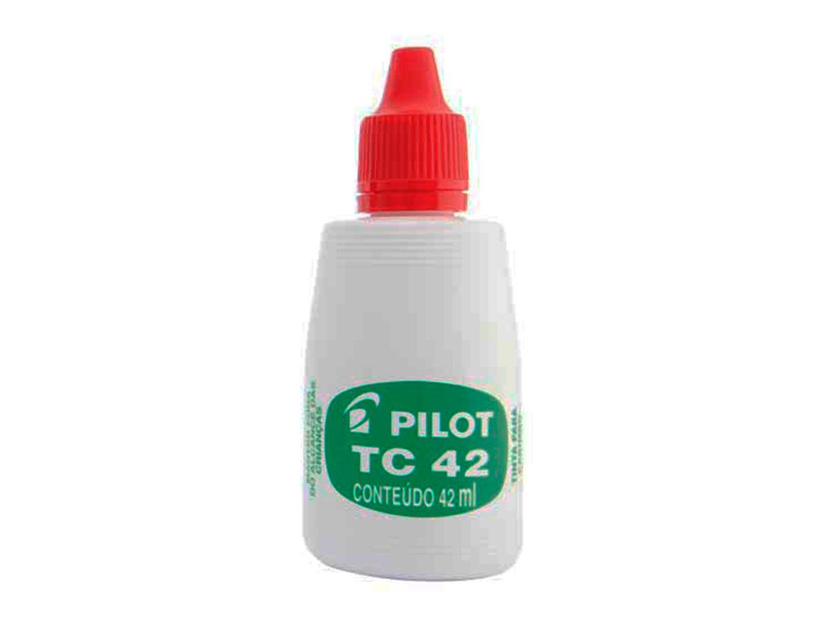 Tinta Para Carimbo Vermelho 42 ML Caixa Com 12 Unidades Pilot - 1060005VM