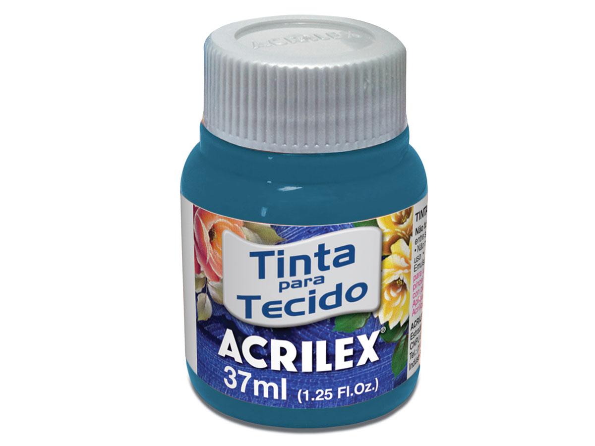 Tinta para Tecido Fosca, 37 ml, Contém 12 Unidades, Acrilex - Acqua Marina