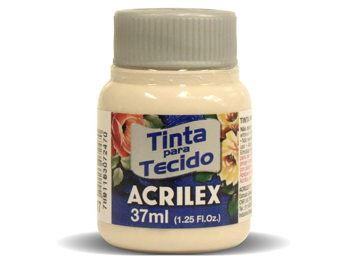 Tinta para Tecido Fosca, 37 ml, Contém 12 Unidades, Acrilex - Areia