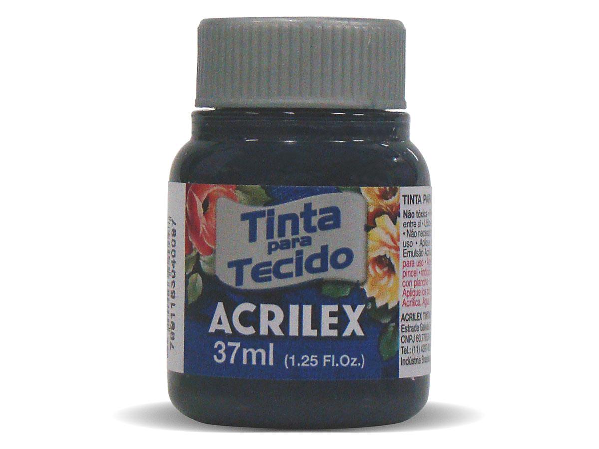 Tinta para Tecido Fosca, 37 ml, Contém 12 Unidades, Acrilex - Azul Petróleo