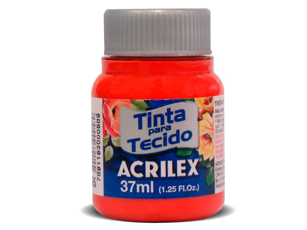 Tinta para Tecido Fosca, 37 ml, Contém 12 Unidades, Acrilex - Coral