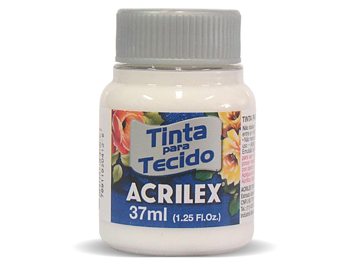 Tinta para Tecido Fosca, 37 ml, Contém 12 Unidades, Acrilex - Incolor