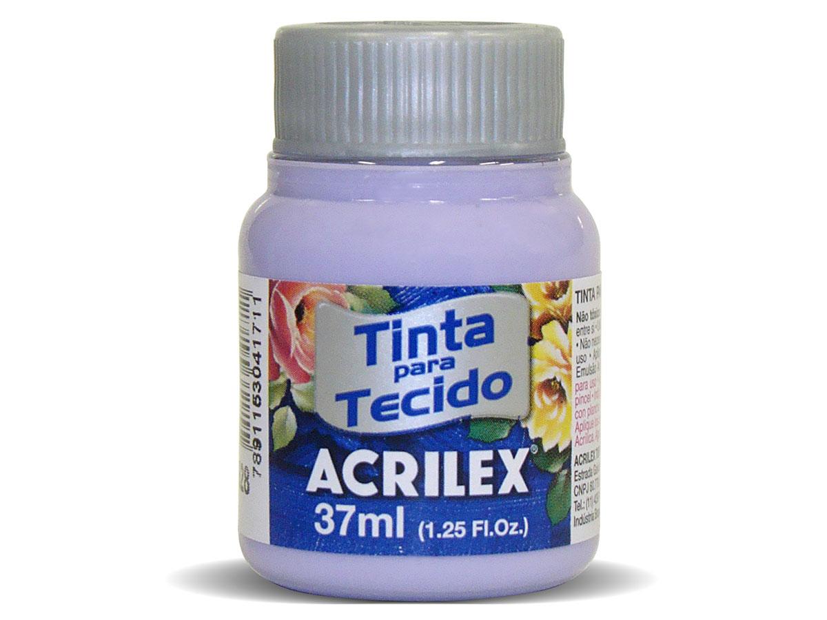 Tinta para Tecido Fosca, 37 ml, Contém 12 Unidades, Acrilex - Lilas