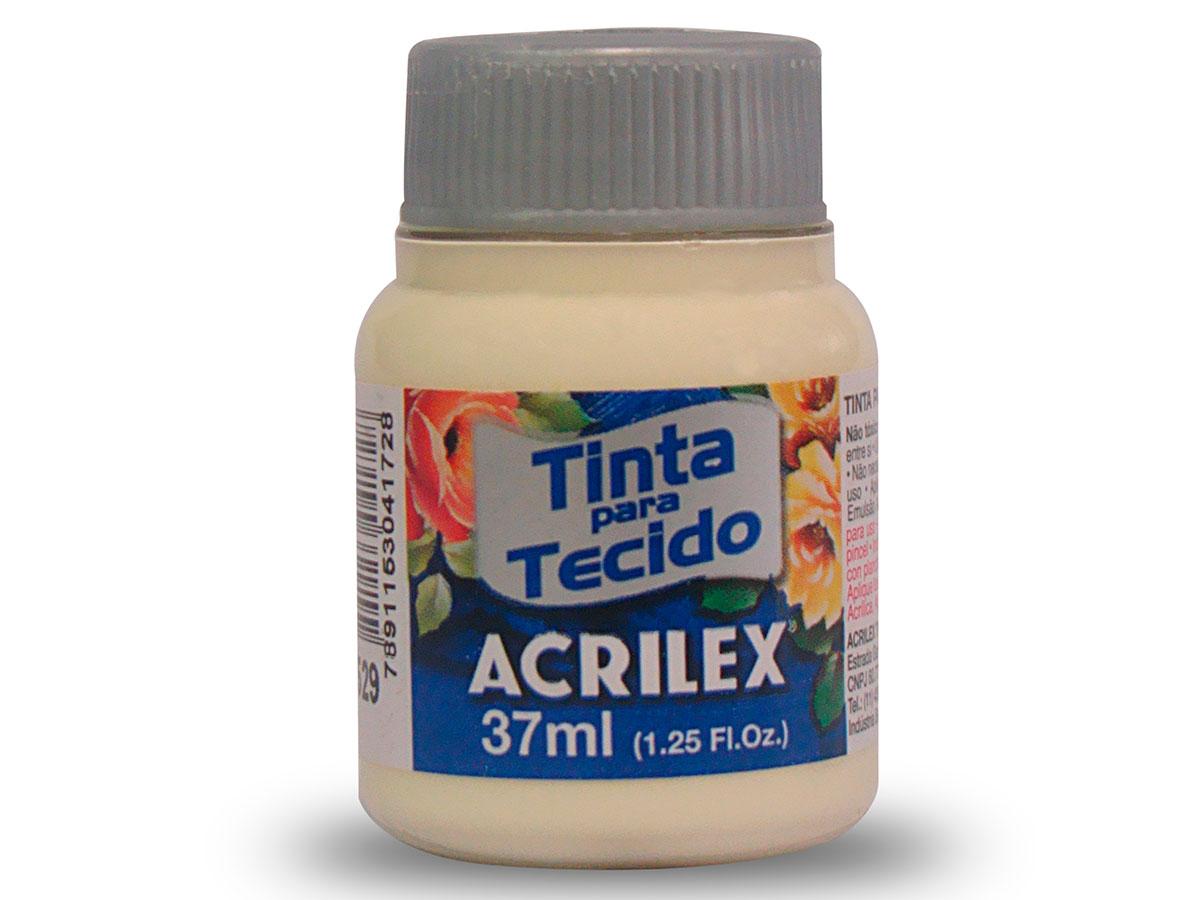 Tinta para Tecido Fosca, 37 ml, Contém 12 Unidades, Acrilex - Marfim