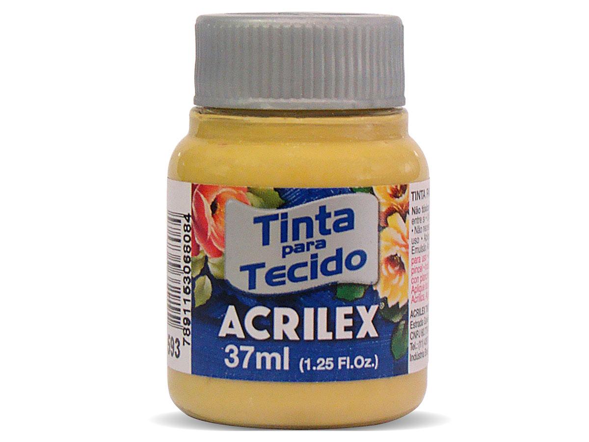 Tinta para Tecido Fosca, 37 ml, Contém 12 Unidades, Acrilex - Ocre Ouro