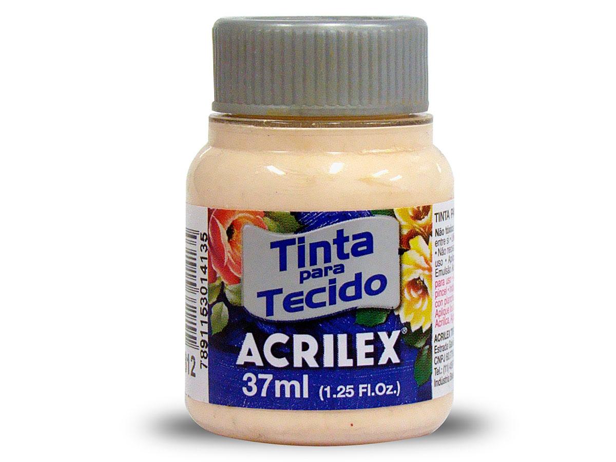 Tinta para Tecido Fosca, 37 ml, Contém 12 Unidades, Acrilex - Salmão Bebê