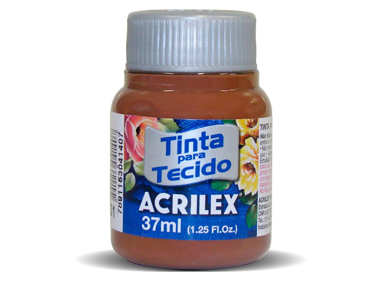 Tinta para Tecido Fosca, 37 ml, Contém 12 Unidades, Acrilex - Telha