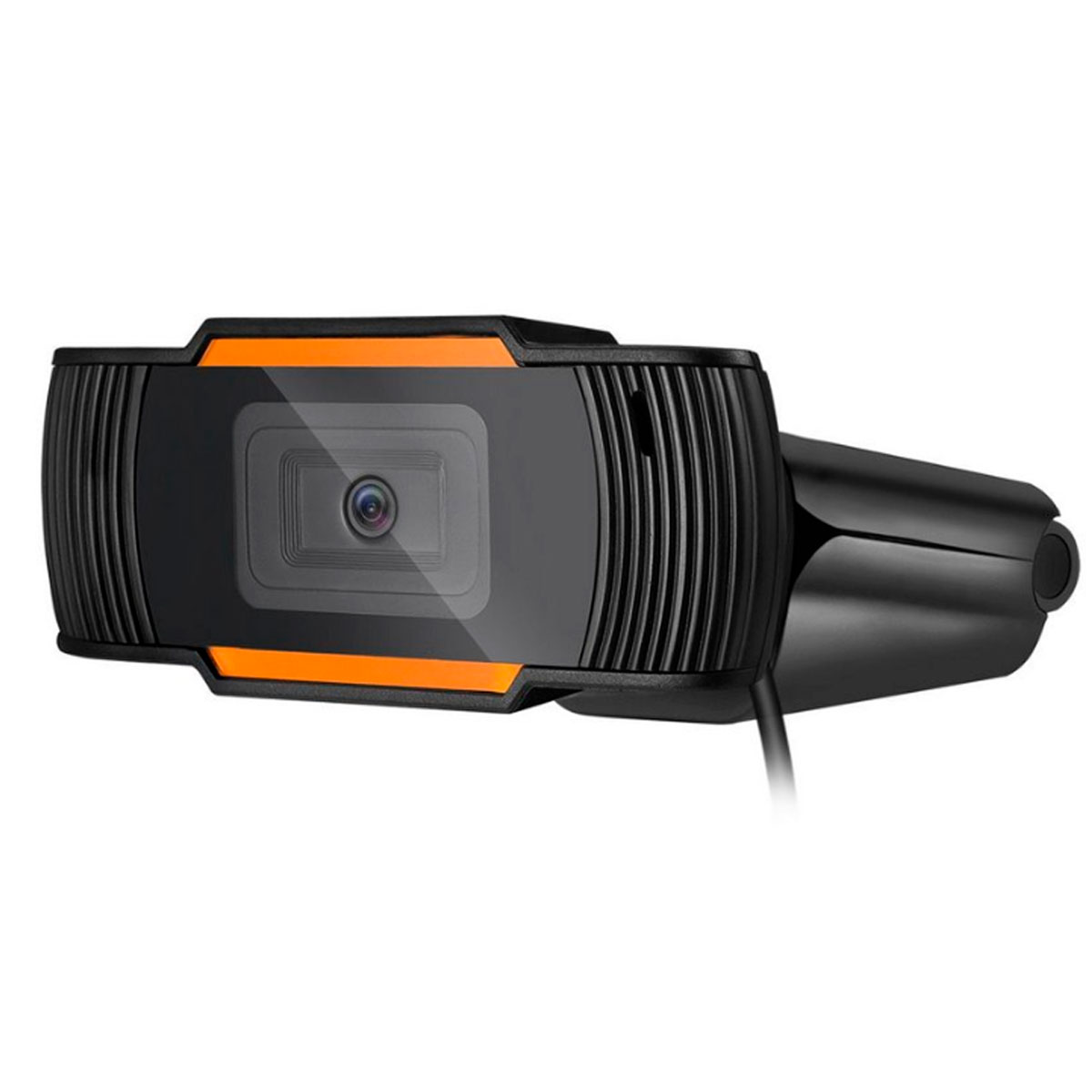 WebCam Brazil PC V5, Resolução HD 720p, Microfone, Preto/Laranja, USB