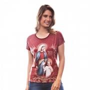 Baby Look Camiseta Maria Passa À Frente