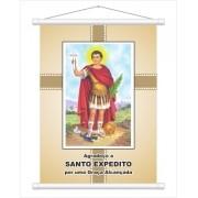 Banner (pequena faixa) de Santo Expedito 50x70cm