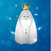 Luminária Abajur Nossa Senhora com coroa metalizada dourada