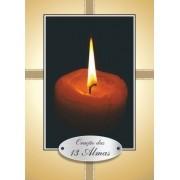 Santinho com Oração 13 Almas Benditas