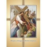 Santinho com Oração Chaga no Ombro de Jesus