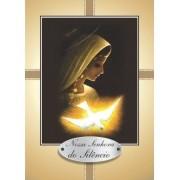 Santinho com Oração Nossa Senhora do Silêncio