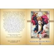 Santinho com Oração Novena das Três Ave Marias