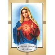 Santinho com Oração Sagrado Coração de Maria