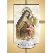 Santinho com Oração Santa Clara