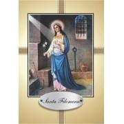 Santinho com Oração Santa Filomena