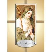 Santinho com Oração Santa Gertrudes