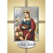 Santinho com Oração Santa Isabel