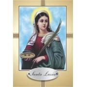 Santinho com Oração Santa Luzia