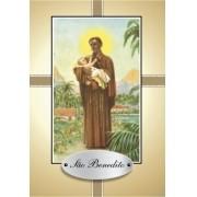 Santinho com Oração São Benedito.