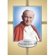 Santinho com Oração São João Paulo II